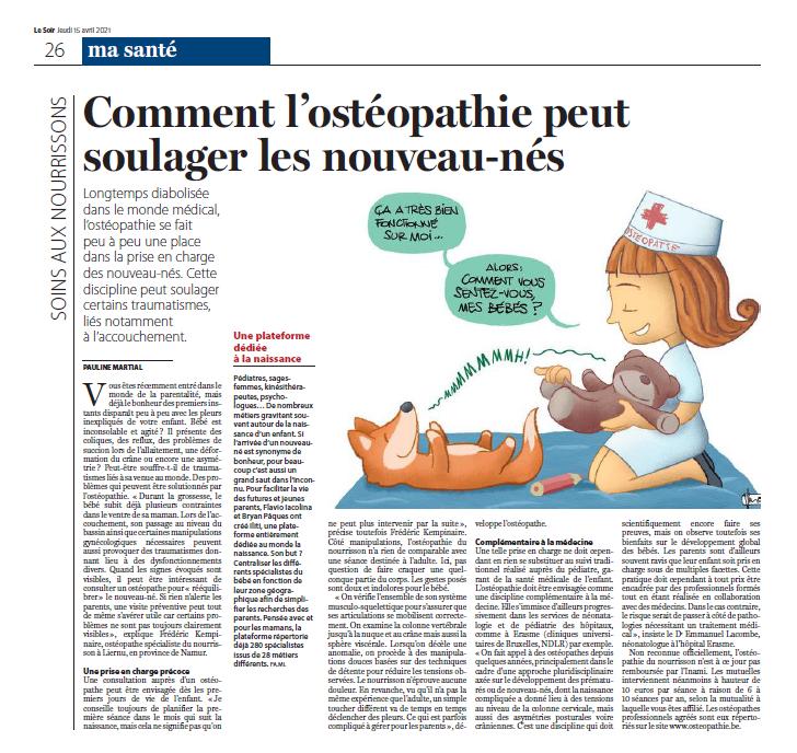 Article Le Soir Ma Santé Soins Aux Nourrissons